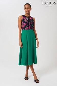 Hobbs Green Marie Satin Skirt