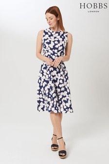 Hobbs Blue Linen Twitchill Dress