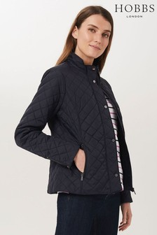 Hobbs Blue Carys Quilted Coat
