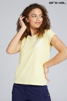 Animal Yellow Summer Sunshine Beach Organic Womens T-Shirt