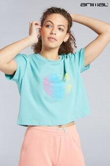 Animal Teal Layne Sun And Surf Organic Women's Boxy T-Shirt