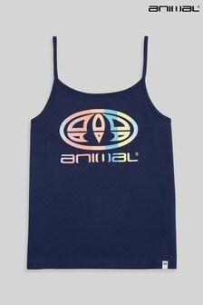 Animal Navy Sorella Organic Womens Strappy Logo Vest