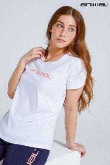 Animal White Marina Organic Womens Fitted Logo T-Shirt