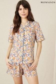 Monsoon Natural Artisan Studio Woodblock Print Pyjamas Set