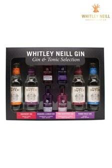 Whitley Neill Gin Mixologist Gift Set 4x 5cl 43% abv Gin 4x 200ml Mixer