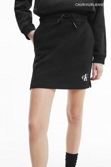 Calvin Klein Jeans Black Monogram Knit Skirt