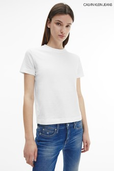 Calvin Klein Jeans White Off Placed Monogram Tee