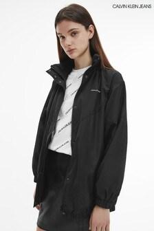 Calvin Klein Jeans Black Waisted Windbreaker