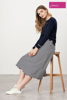 Joules Eden Jersey Midi Skirt