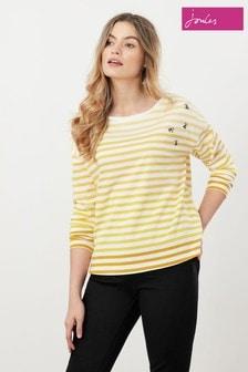 Joules Marina Embellished Dropped Shoulder Jersey Top