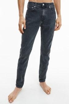 Calvin Klein Jeans Black Slim Tapered Denim Bottoms