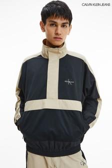 Calvin Klein Jeans Black Colourblock Pop Over Jacket