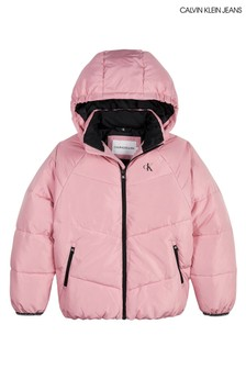 Calvin Klein Jeans Pink Relaxed Puffer Jacket