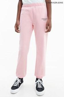 Calvin Klein Jeans Pink Mini Monogram Sweatpants