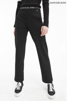 Calvin Klein Jeans Black Intarsia Punto Pants