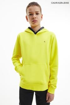 Calvin Klein Jeans Yellow Intarsia Hoodie