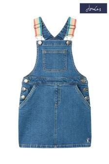 Joules Blue Kimberly Denim Dungaree Dress 1-12 Years