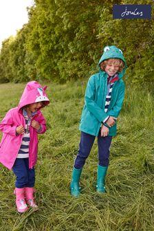Joules Green Riverside Showerproof Character Rubber Coat
