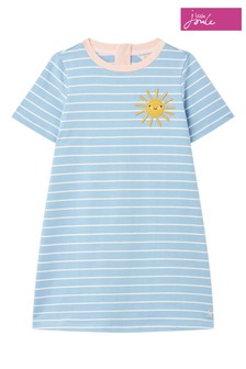 Joules Blue Rosalee Short Sleeve A-Line Dress 1-12 Years