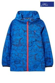 Joules Blue Arlow Waterproof Recycled Mini Me Packable Jacket 1-12 Years