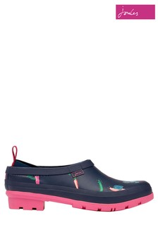 Joules Blue Pop On Printed Welly Clogs
