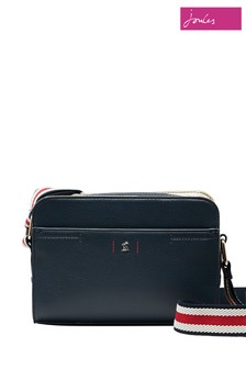 Joules Blue Zia PU Camera Bag
