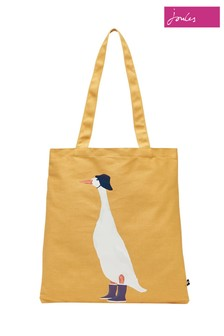Joules Yellow Lulu Shopper Canvas Tote Bag