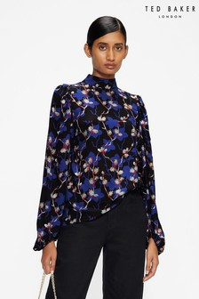 Ted Baker Ooma Tie Neck Open Back Top