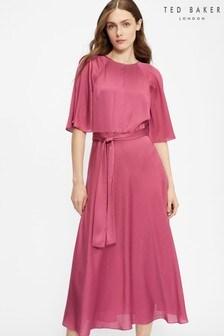 Ted Baker Hariiet Raglan Sleeve Tea Midi Dress