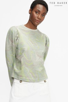 Ted Baker Llanaa Marble Print Jersey Sweater