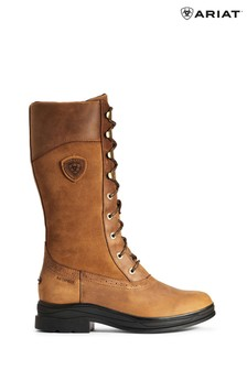 Ariat Brown Wythburn Waterproof Lace-Up Boots