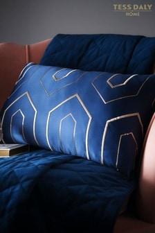 Tess Daly Blue Phoebe Boudoir Cushion
