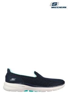 Skechers Blue Go Walk 6 Big Splash Shoes