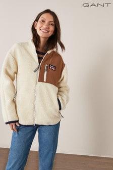 GANT Women's Retro Logo Fleece Jacket
