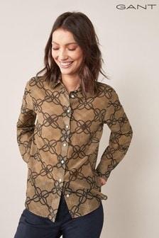 GANT Women's Rope Print Cotton Silk Shirt
