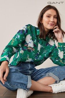 GANT Women's Rose Printed Cotton Silk Shirt