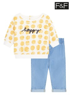 F&F Happy Sweat And Jeans Set