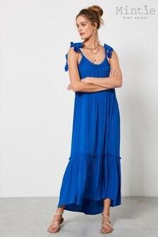 Mint Velvet Blue Tiered Beach Maxi Dress