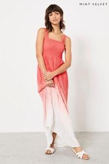 Mint Velvet Pink Dip Dye Maxi Dress