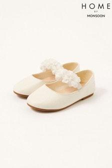 Monsoon Natural Corsage Shimmer Walker Shoes
