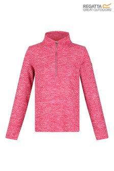Regatta Pink Marl Fidelia Half Zip Fleece