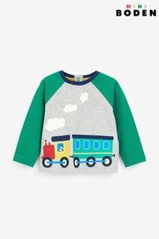 Boden Printed Train T-Shirt