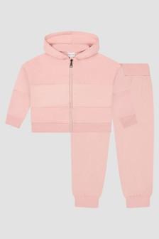 Moncler Enfant Girls Pink Tracksuit
