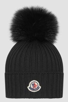 Moncler Enfant Girls Black Hat