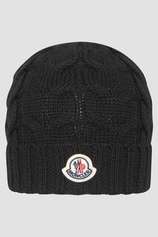 Moncler Enfant Boys Black Hat