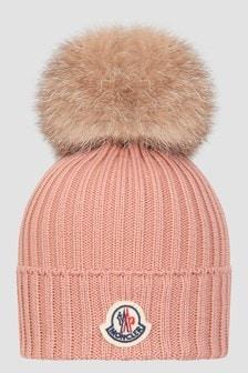 Moncler Enfant Girls Pink Hat