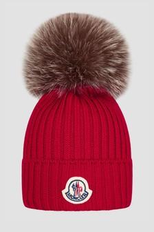 Moncler Enfant Girls Red Hat