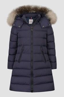 Moncler Enfant Girls Navy Abelle Long Coat