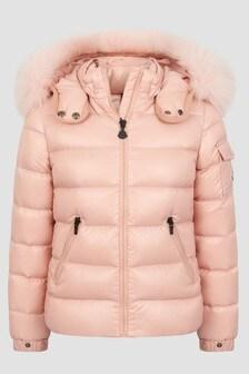 Moncler Enfant Girls Pink Bady Fur Jacket