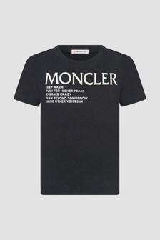 Moncler Enfant Kids Black T-Shirt